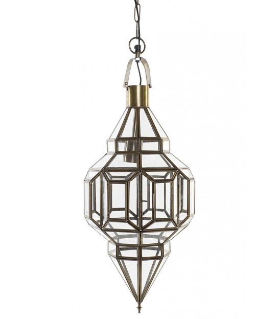 Ceiling Lamp Gold Metal Oriental