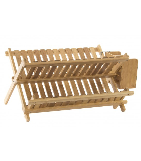Bamboo Folding Dish Rack