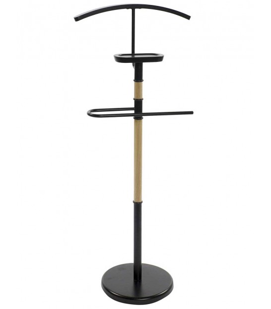 Valet Stand in Black Wood