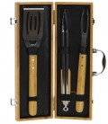 Set Ustensiles pour Barbecue Inox et Bambou