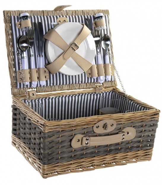 Basket with Lid Nature Rattan