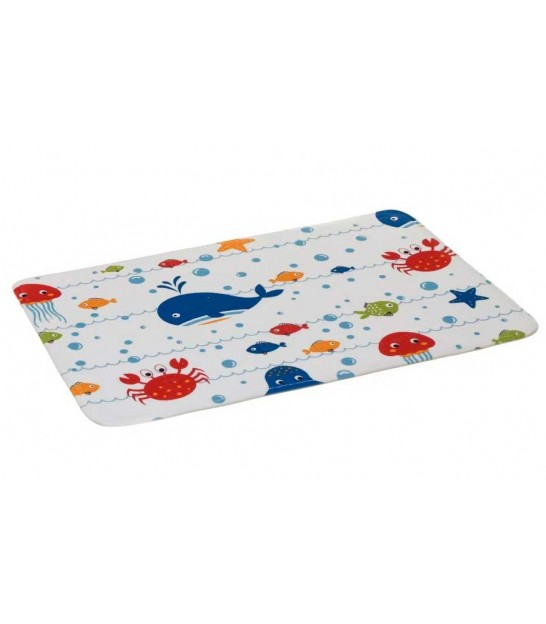 Bath Mat Microfiber Fishes - 45x70cm