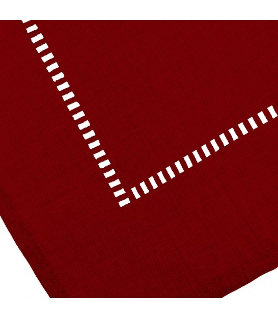 Nappe Rectangulaire Rouge Bordeaux - 210x150cm
