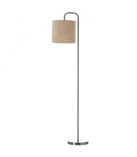 Floor Lamp Gold Metal + Glass Globe