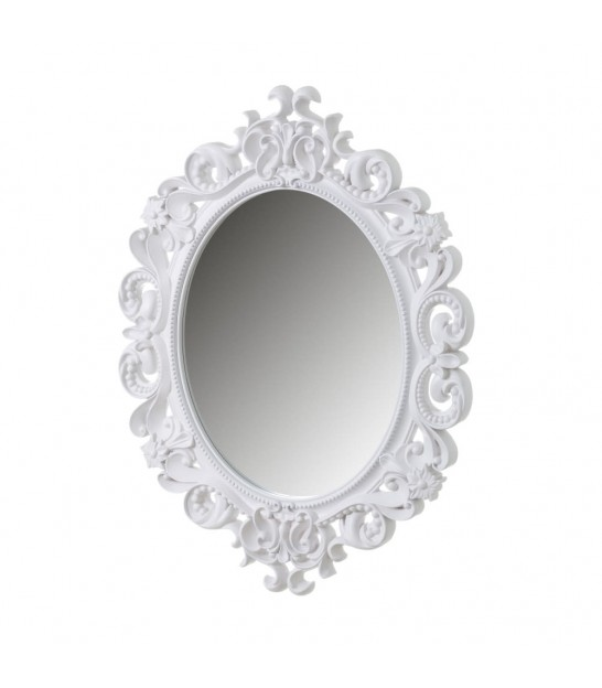 Rectangular Wall Mirror White Molding - 59x79cm