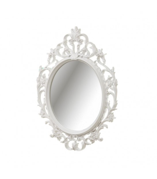 Ovale Wall Mirror White Molding - 60x80cm