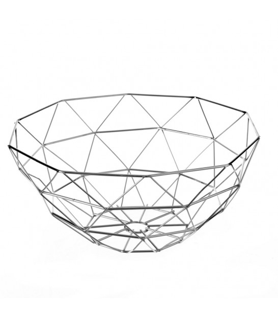 Silver Metal Fruit Basket
