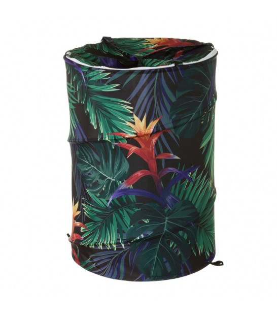 Laundry Basket Green Tropical