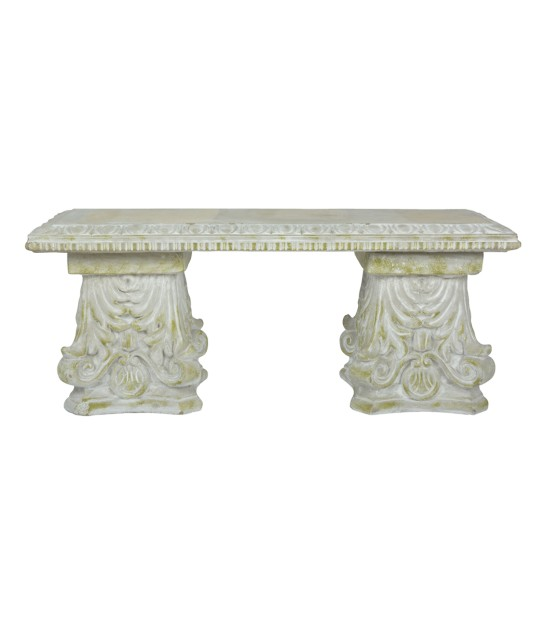 Garden Bench Concrete Classical