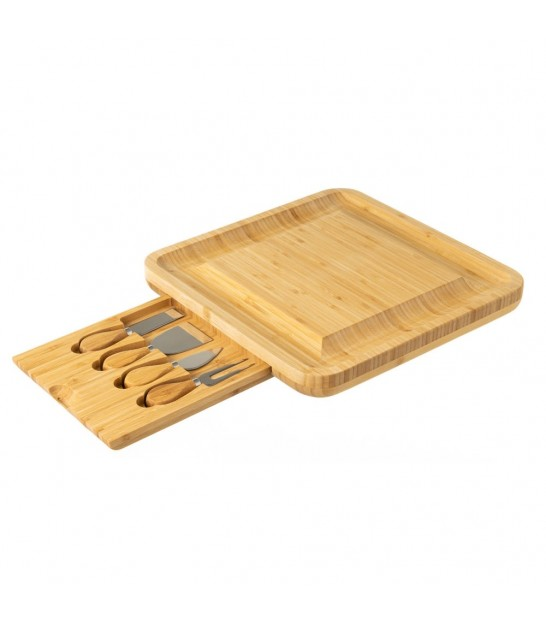 Bamboo Cheese Tray + Accessories