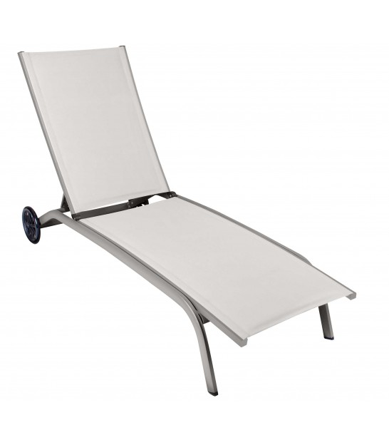 Garden Lounge Chair Grey