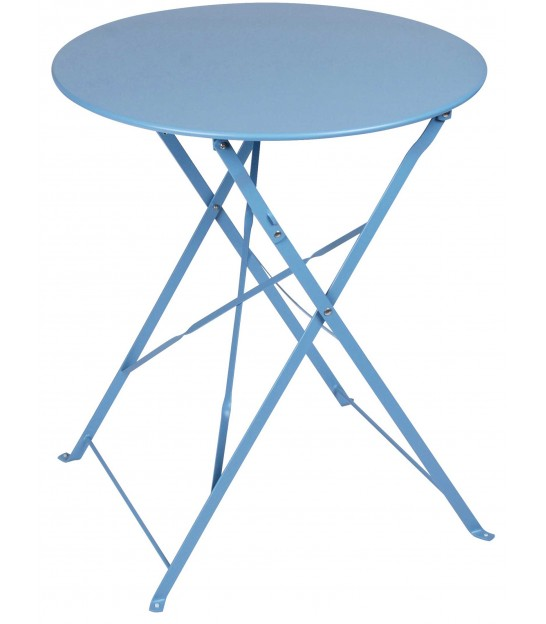 Blue Round Garden Table Foldable