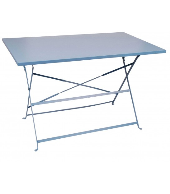 Blue Square Garden Table Foldable