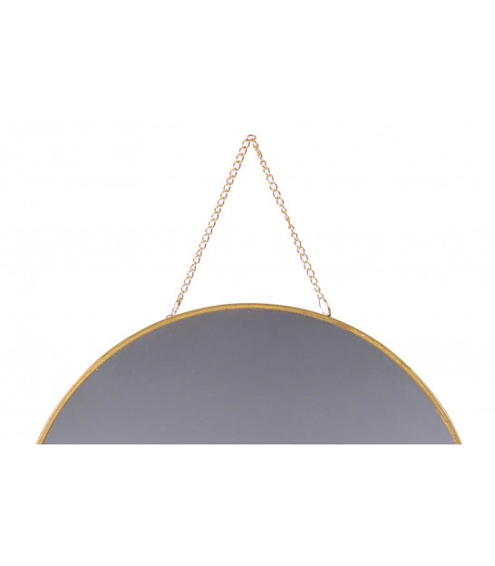 Round Wall Mirror Black - D50cm