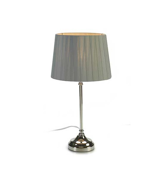 Table Lamp Blue Lampshade and Metal - H45cm