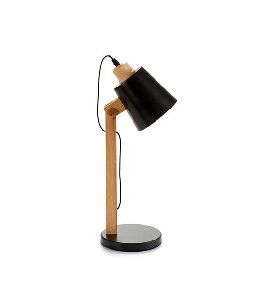 Table Lamp Grey Lampshade and Metal - H45cm