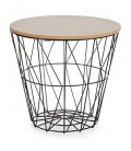 Wood and Metal Side Table - H31cm