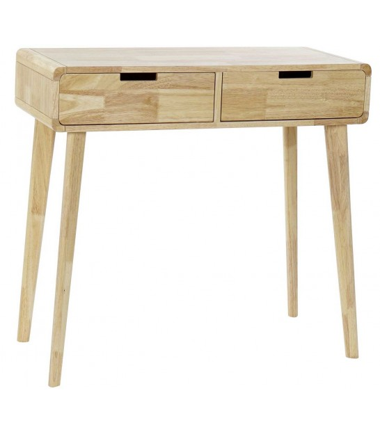 Entrance Console Table Wood Acacia 2 Drawers