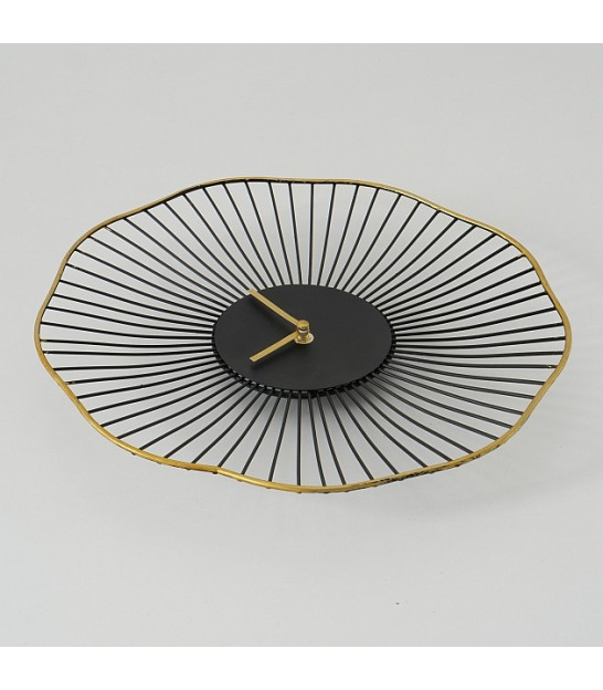 Round Wall Clock Golden Metal