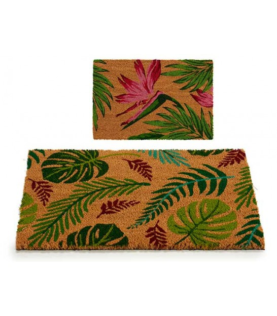 Set of 2 Coco Doormat Leaves - 60x39x1.5cm