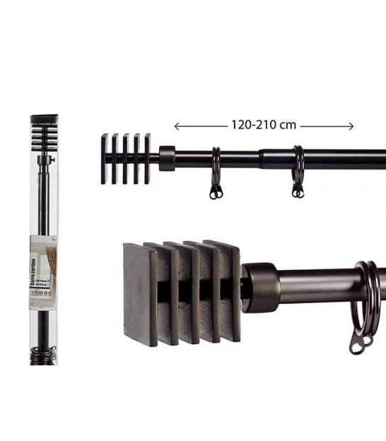 Curtain Rod Black - Ball