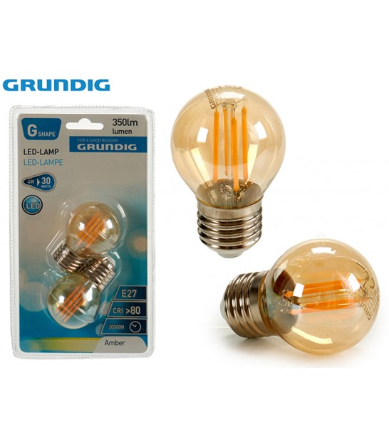 Set of 2 Bulbs LED E27 4W 350lm 2200k - Grundig