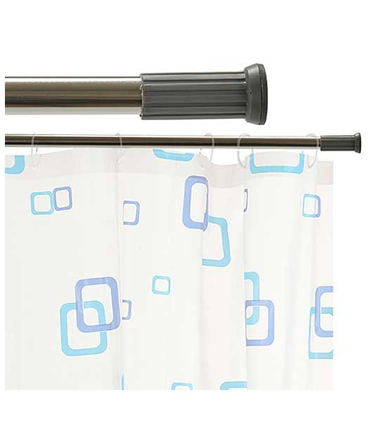 Adjustable Shower Curtain Rod White 110 to 200cm