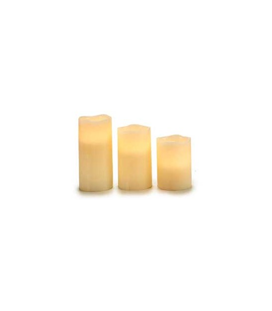 Set of 3 Led Candles Red
