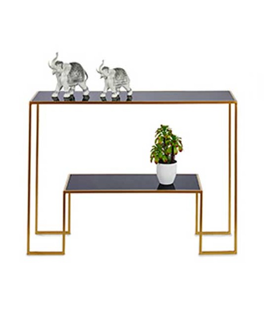 Entrance Console Table Black Metal