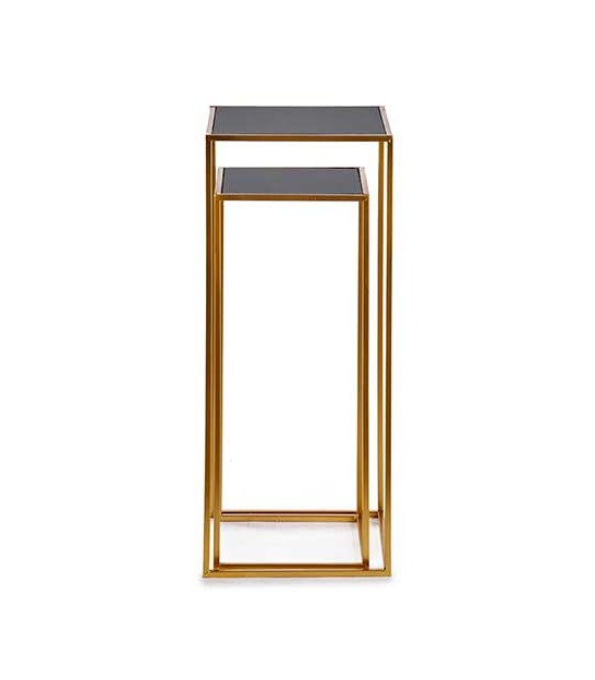 Entrance Console Table Black and Gold