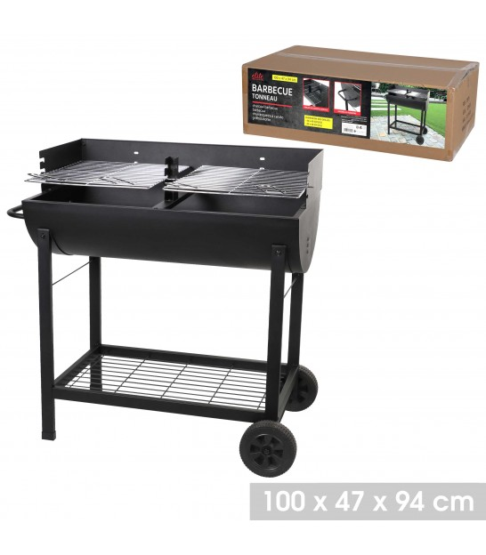 Black Iron Barbecue - 140x60x108cm