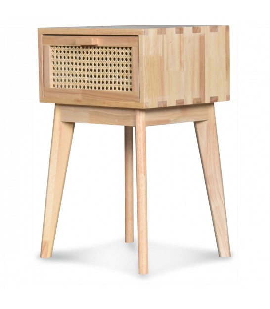 Night Stand Wood 2 Drawers