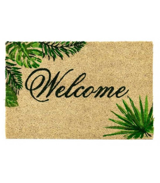 Paillasson Coco Feuillage Welcome - 60x40x1.5cm