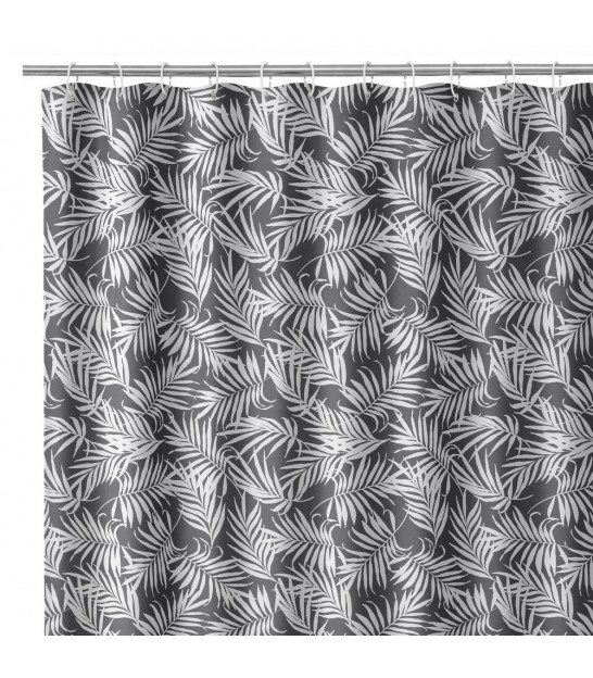 Shower Curtain Multicolore Leaves polyester 180x200cm