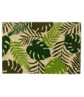 Coco Doormat Tropical Leaves Green - 60x40cm