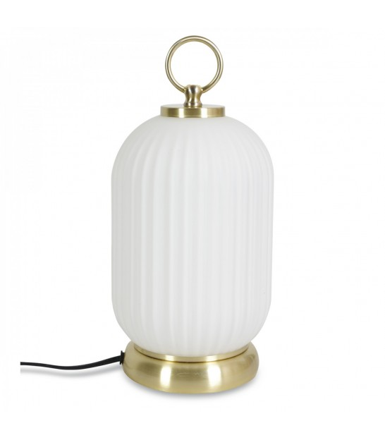 Table Lamp Glass and Golden Metal