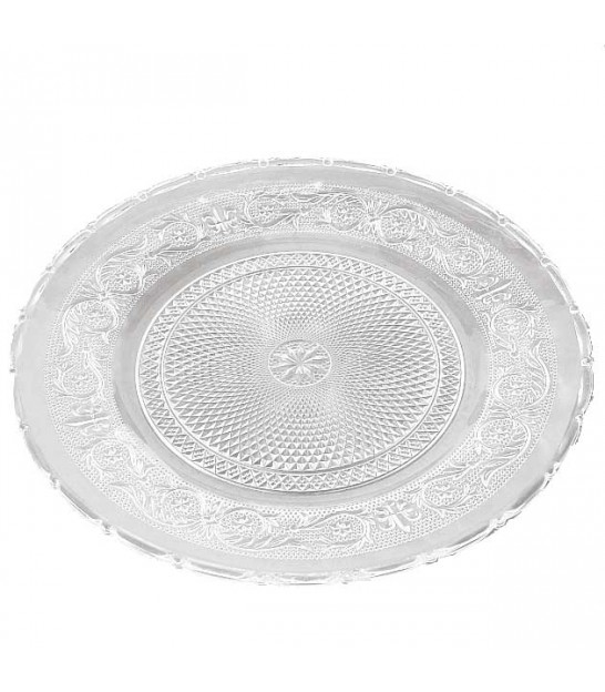 Transparent Plate Glass -d. 25cm