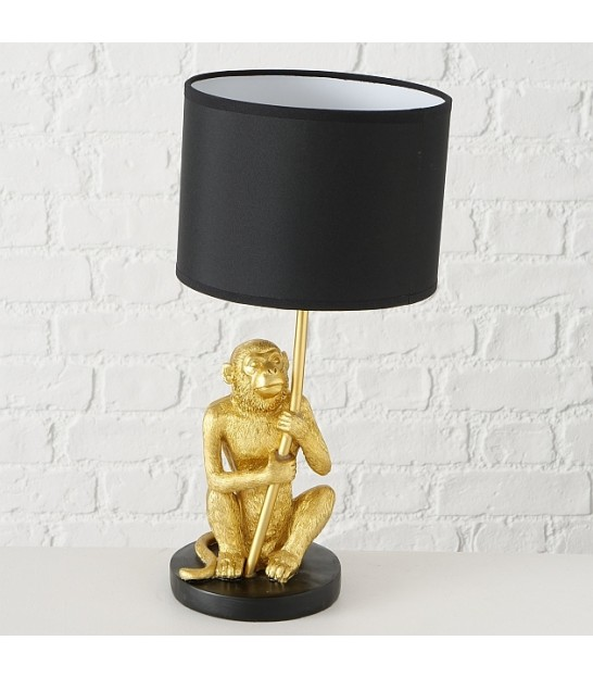 Table Lamp Black Polyresin Parrot