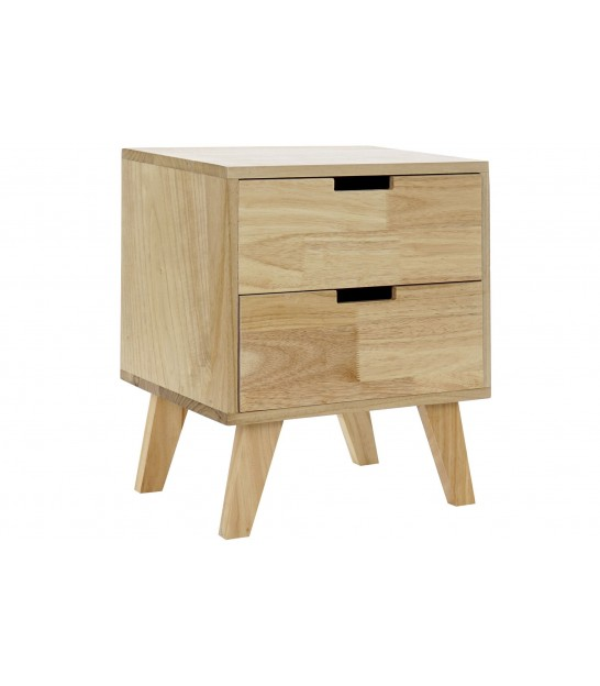 Bedside Table Wood 2 Drawers