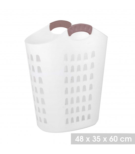 Laundry Basket White Plastic