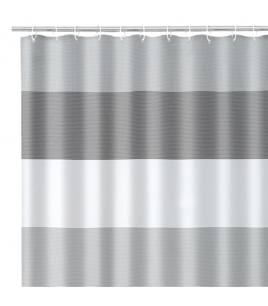Shower Curtain Blue and White polyester 180x200cm