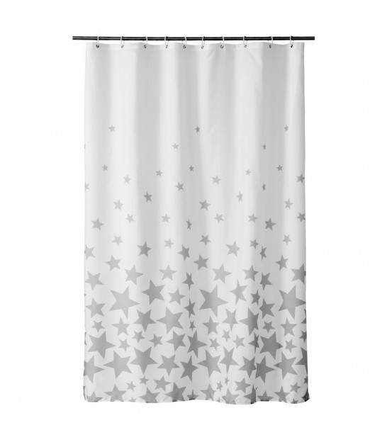 Shower Curtain Stripes Polyester 180x200cm