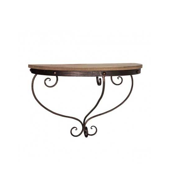 Entrance Console Table Wood and Glass