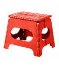 Red Foldable Step Plastic - Height 27cm