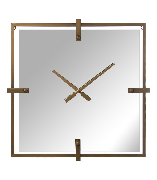 Round Wall Clock Resin with Mirrors