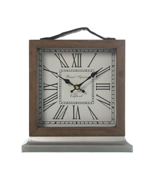 Square Wall Clock with Mirror