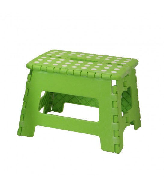 Green Foldable Step Plastic - Height 22cm