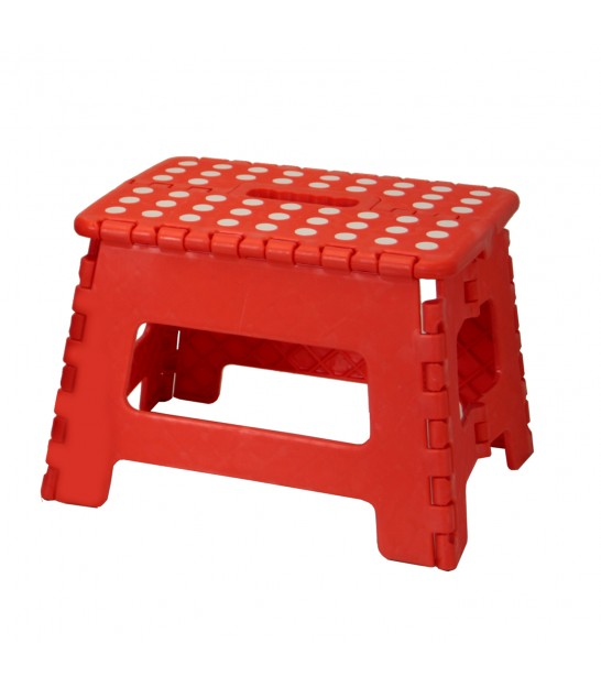 Red Foldable Step Plastic - Height 22cm