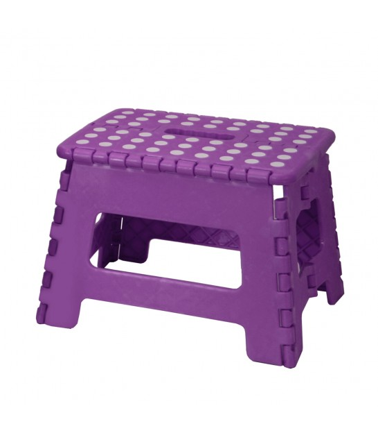 Purple Foldable Step Plastic - Height 22cm