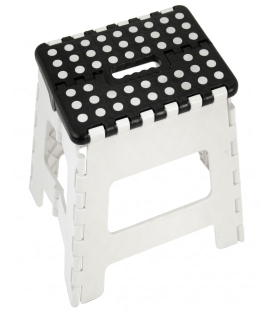 Black and White Foldable Step Plastic - Height 40cm